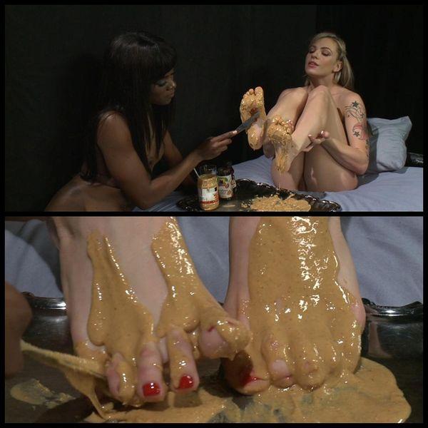 (04.04.2014) PB & J Toes Sandwiches: Lesbian Foot Sploshing