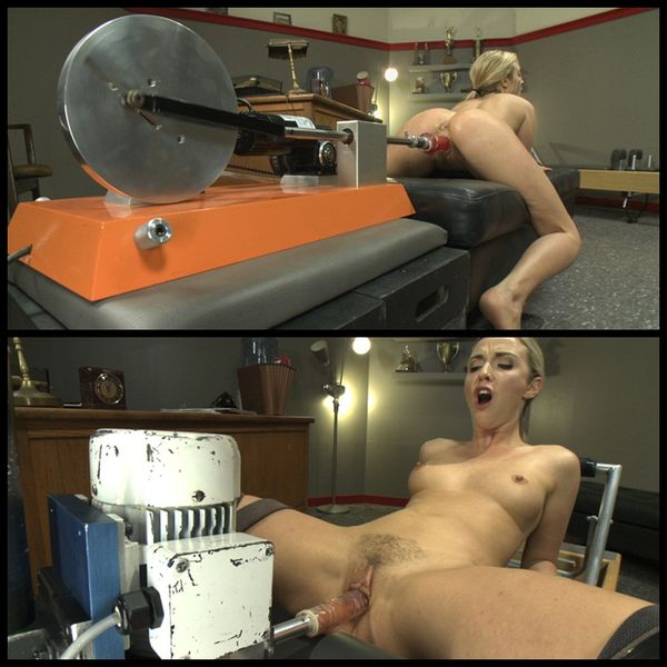 (16.04.2014) Hot Blonde SQUIRTS from Machine FUCKING