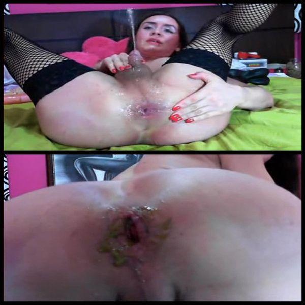 Tranny extreme anal shit dildo