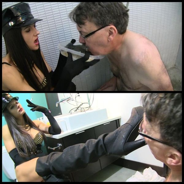 Extreme smoking and scat humiliation with slaveray