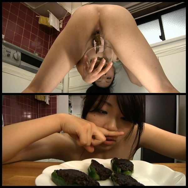 Forced to eat her own shit: cooking shit 06