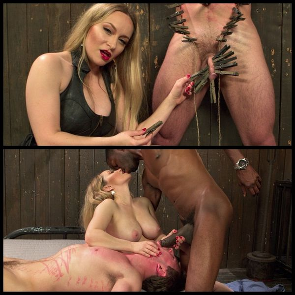 (02.07.2014) Brutal Humiliation: The Ultimate Interracial Femdom Cuckold