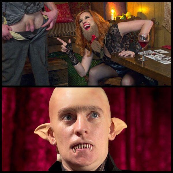 (29.10.2014) Divine Halloween Presentation: FemDom Freakshow! SPH cock edging