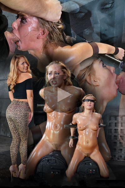 (12.11.2014) Carter Cruise blindfolded, oiled down, sybian blasted to multiple orgasm and brutally throatboarded