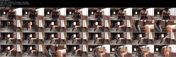 The long black strap-on - Ava Black