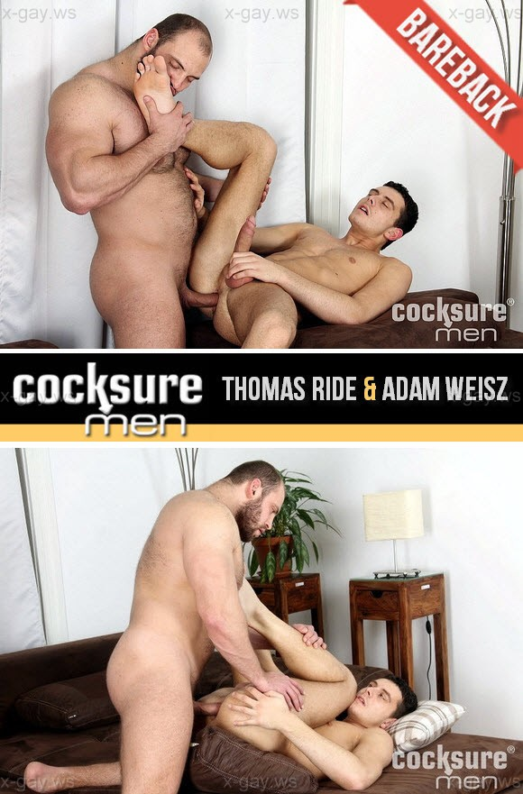 CockSureMen – Thomas Ride & Adam Weisz, Bareback