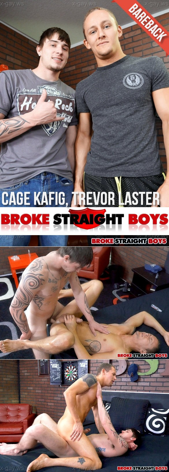 BrokeStraightBoys – Cage Kafig & Trevor Laster, Bareback