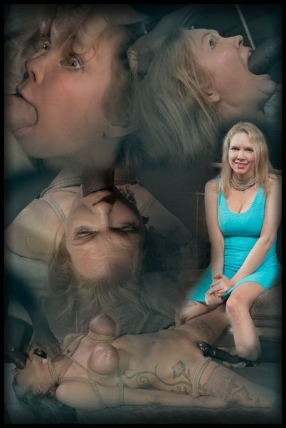 (03.03.2015) Big breasted blonde Rain DeGrey tightly tied, brutal deepthroat on BBC, massive multiple orgasms