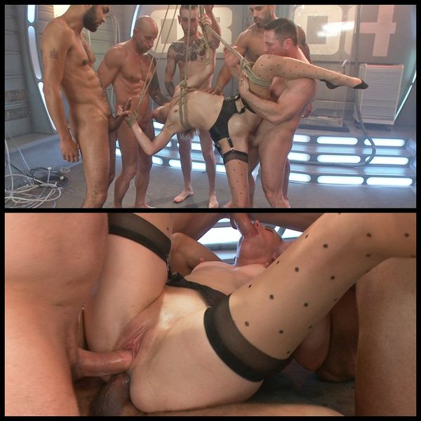 (11.03.2015) Científica cachonda Babe Craves Cock, inventa a los tipos de 5 para destruirla - BDSM, Bondage