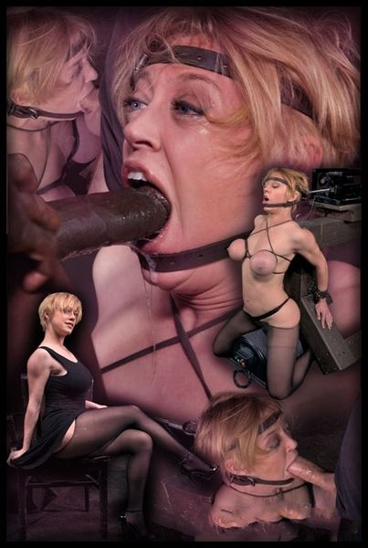 (06.04.2015) Big titted hardbody blonde Darling brutally facefucked in blowjob machine, massive sybian orgasms