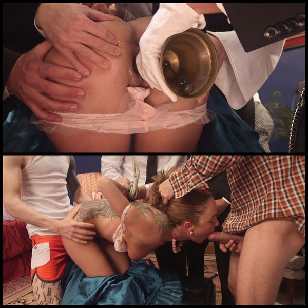 (21.04.2015) Hard body rich bitch triple stuffed choke full of huge hard cock