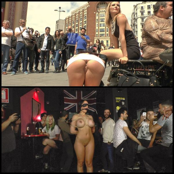 (01.05.2015) Big Tit Supermodel Bound & Dragged Through Spanish City Center