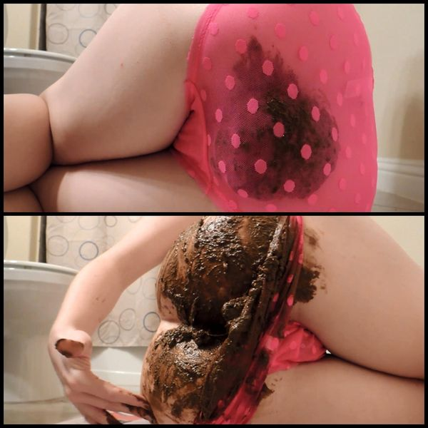 Sheer Panty Upclose Shit Smear – Solo Scat, Poopping, Shitting
