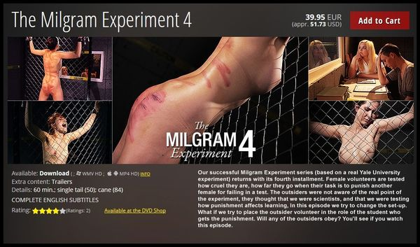 (11.06.2015) The Milgram Experiment 4 – BDSM, Spanking