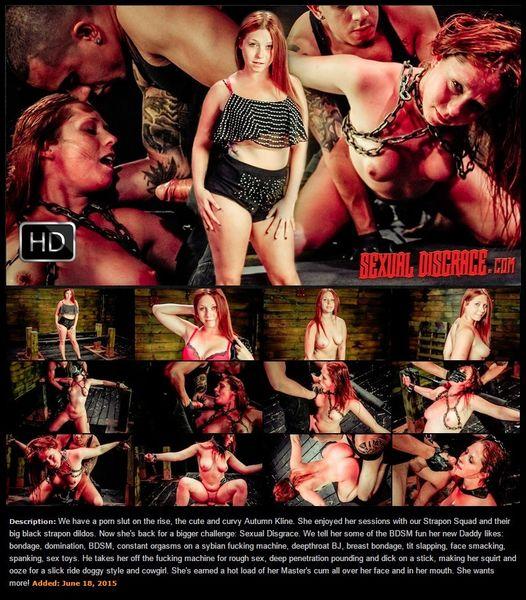 (18.06.2015) Hydref Kline Endures BDSM Hwyl, Sybian, Deepthroat BJ, Rough Sex & Cum Facial