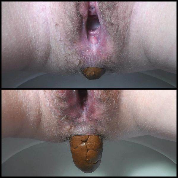 Shit in the toilet as closeup – Solo Scat, Poopping