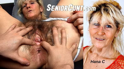FaceSittingMoms.com - Czech hairy pussy granny Hana facesitting young boy Hana C