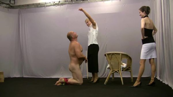 ElegantFemdom - Extremely severe femdom whipping, slapping, kicking and humiliation 1