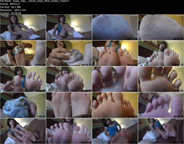 Clips4sale - Anais Jolie - Seven Days Worn Socks Tease