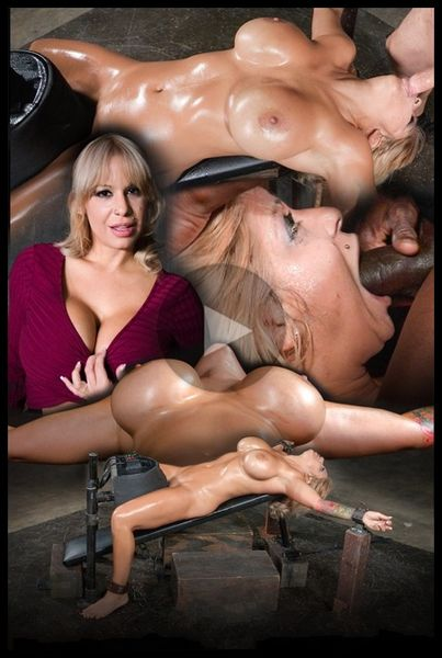 (02.12.2015) Huge breasted blonde Alyssa Lynn restrained on a sybian and facefucked by BBC, multiple orgasms
