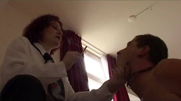 FemdomShed - Lady Kitty - Face slapping and cigarette embarrassment