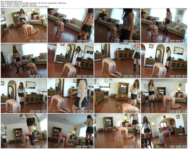 FemdomShed - Bratty Princess - Kicked about