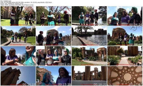 AliceInBondageLand - Daisy Ducati,  Mistress Denali Winter - Rubber Sissy FemDom Group Outting San Francisco (Palace of Fine Arts )