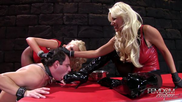 FemdomEmpire - Brittany Andrews, Gigi Allens - Cum Bath Boot Bitch