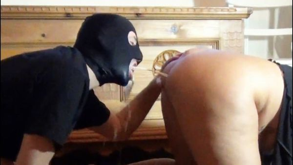 RosellaExtrem - From my asshole, slave in doggy style, milk caviar cocktail shot in the mouth!
