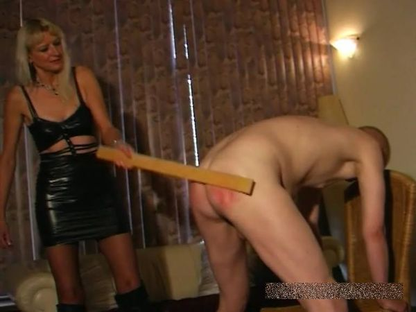 FemdomShed - Sado Sally - WOODEN RULER ON ARSE