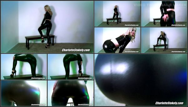 Dominatrix Charlotte Stokely - Shiny Leggings