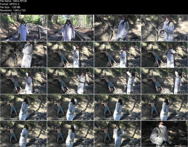 SyrenProductions - Mistress Aleana's Queendom - Railroad Fur Coat Bullwhipping