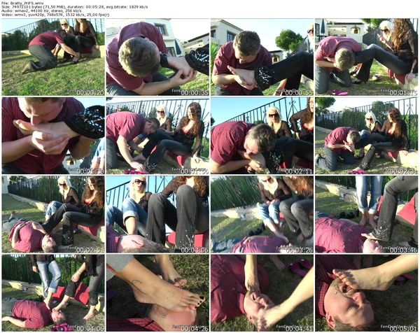 FemdomShed - Bratty Princess, Twisted Princess - Clean our dirty bare feet fuck face