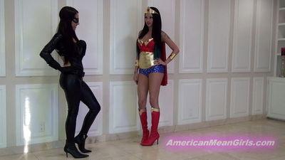 American Mean Girls - Princess Bella, Goddess Raven - Shrink The Inferior Humans