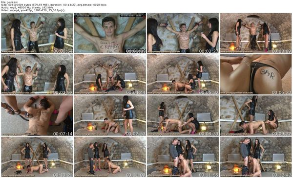 Young-Goddess-Club - GODDESS GAELLE, GODDESS INES, SLAVE DAVID - A JOURNEY TO THE END OF THE DOMINATION PART 1