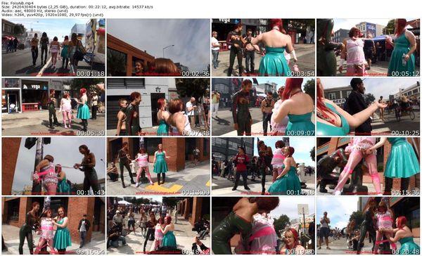 AliceInBondageLand - Happy Folsom Street Fair - Public Sissy Handjob Humiliation San Francisco