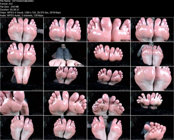 Violet Doll - Baby Oil Feet
