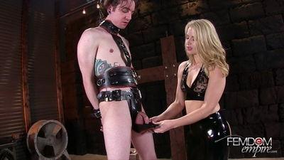 Femdom Empire - Anikka Albrite - Rubber Chastity Release