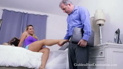 Goddess Foot Domination - Goddess Cali Carter - Free Rent