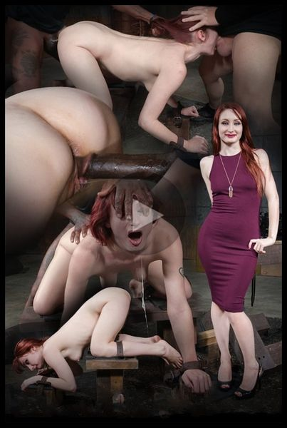 (15.04.2016) Stunning starlet Violet Monroe restrained doggy style and dicked down into a drooling mess