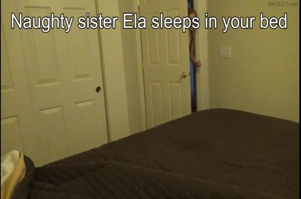 Sister Ela comes into your bed JO encouragement