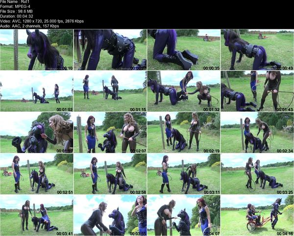 TheEnglishMansion - Mistress Lola Ruin, Mistress T - Rubber Horse Drawn Cart Part 1-2