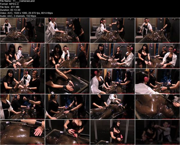 Aliceinbondageland - Be Careful What You Wish For - Rubber Vacbed FemDom Foursome
