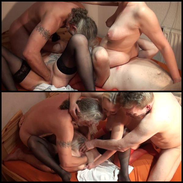 Horny foursomes with fisting and anal
