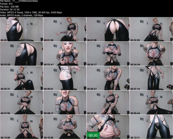 Mistress Harley - JOI for Premature Ejaculator Virgins! Sit on Your Hands Until I Say