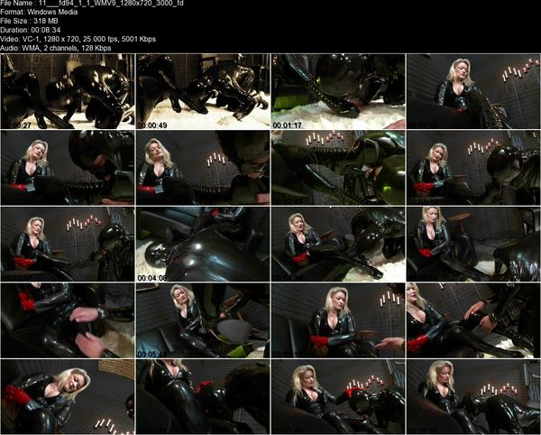 Schlagendegirls - Latex Lady Cynthia Part 1-6