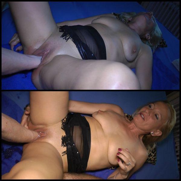 Chica rubia rusa en gangbang duro follada-5