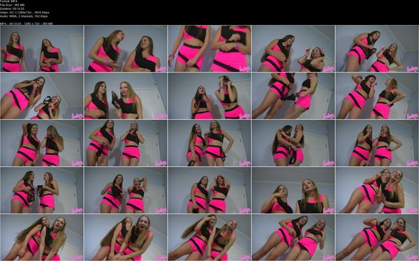 Humiliatrix - It's Panty Incrimination Time with Cheerleaders Tiffani and Becky