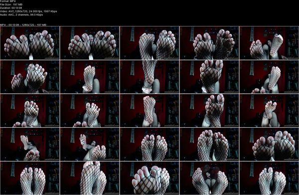 Worship Violet Doll - Fishnet Foot Worship 2