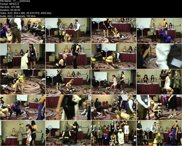 Aliceinbondageland - DomConLA 2015 Human Pet Show - FemDom Petplay On Parade